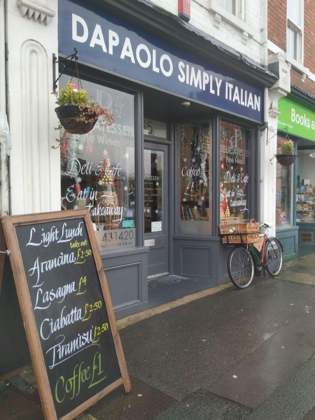 Dapaolo Simply Italian deli and cafe. November 2019. Photo by We Are Swindon.