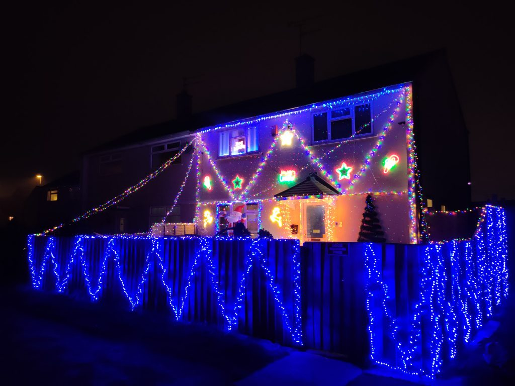 Christmas in Swindon festive decorated home Park South