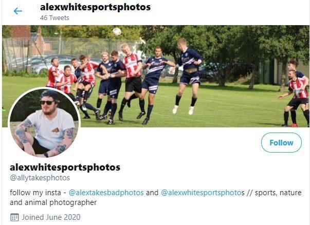Swindon photographer Alex White Sports Twitter