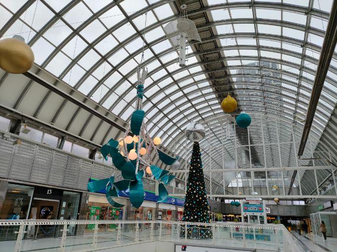 Christmas in Swindon. Brunel Centre Christmas tree. December 2020 We Are Swindon