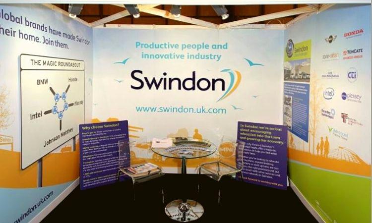Michelle Jones We Are Swindon Exhibition stand for SwindonUK campaign