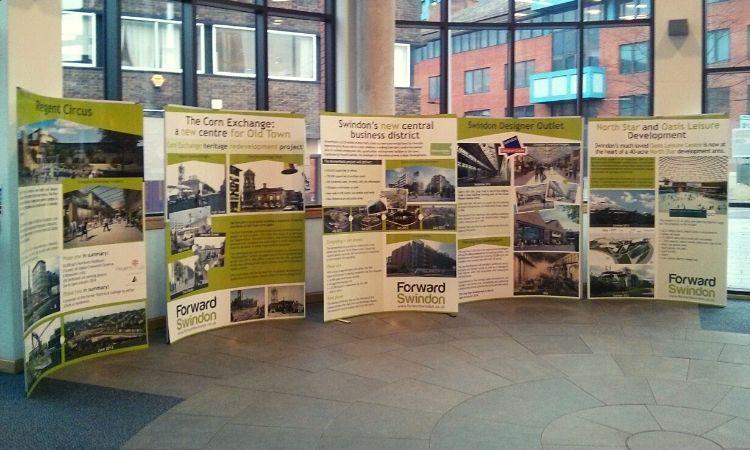 Michelle Jones We Are Swindon Exhibition stand for Forward Swindon Ltd.