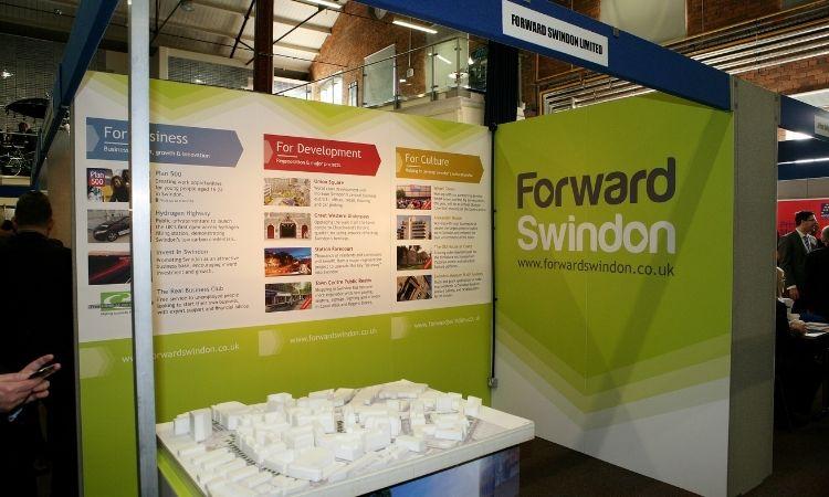 Michelle Jones We Are Swindon Exhibition stand for Forward Swindon Ltd